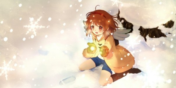 Ayu Tsukimiya snow