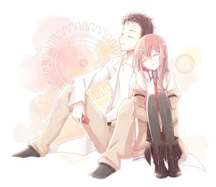 Rintaro and Kurisu
