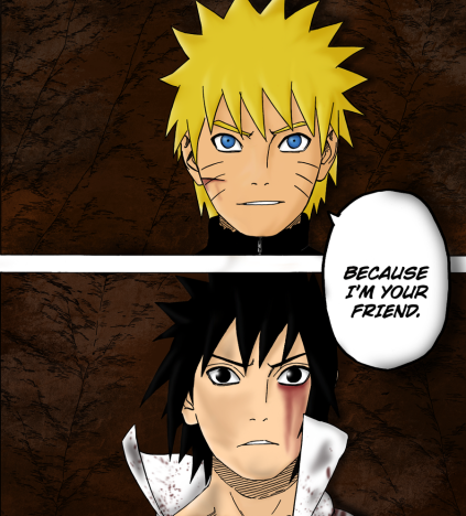 Naruto and Sasuke Friends