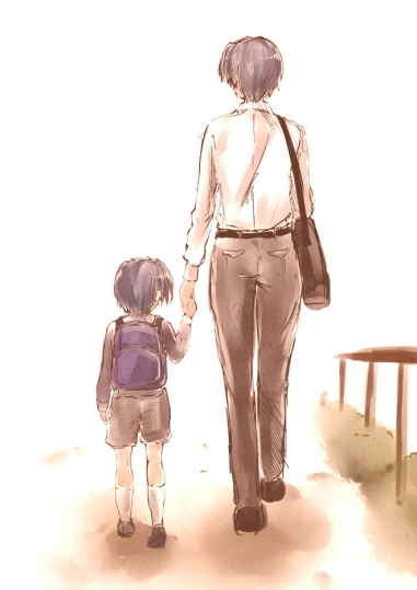 Clannad father and son