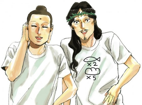 Jesus and Buddha anime