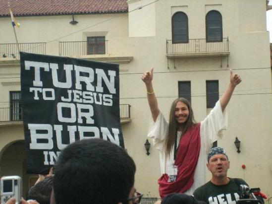 fanime jesus protest