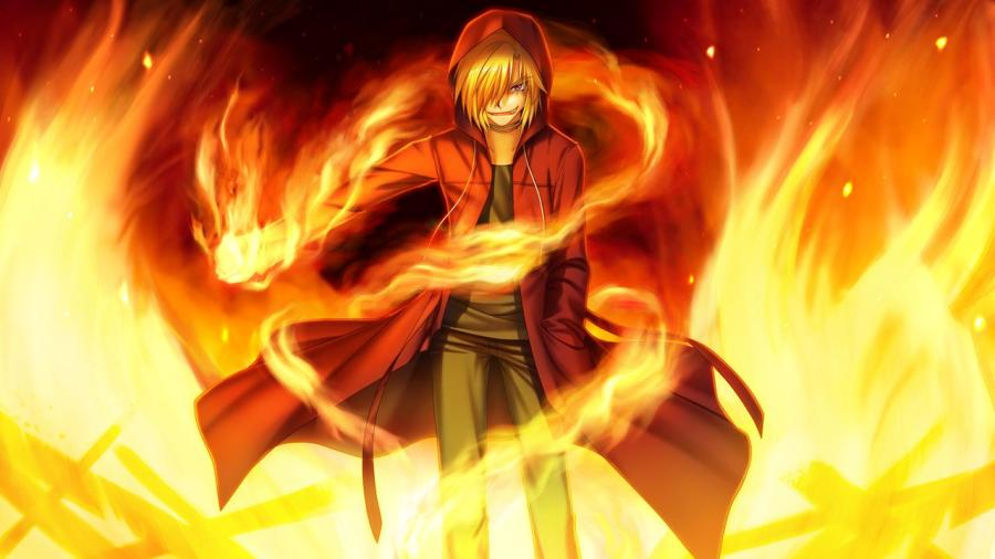 The maniacal fire-wielding Midou.