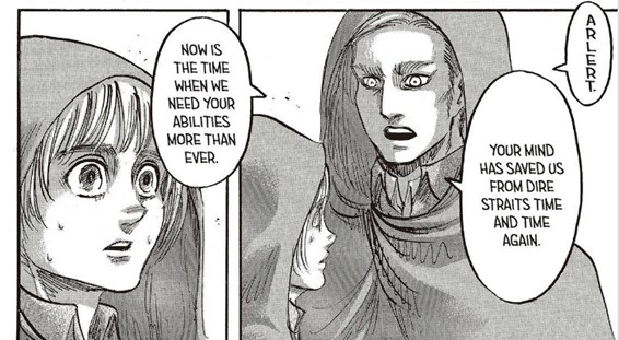Erwin acknowledging armin as a leader attack on titan chapter 74 spoilers