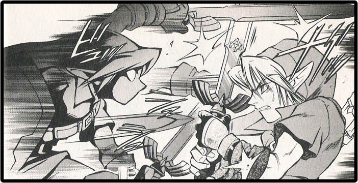 link vs shadow link fight