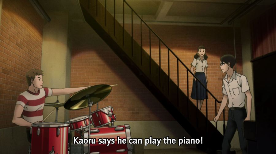 Riko tells Sentaro that Kaoru can play piano.