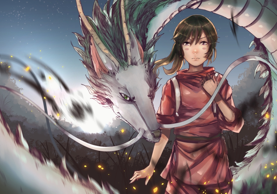 chidiro and haku dragon