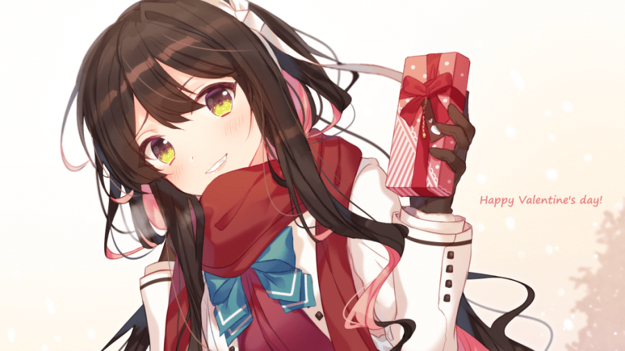 anime girl valentine chocolate